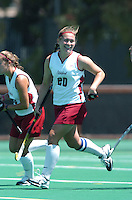 26 August 2006: Stanford Cardinal Aska Sturdevan during Stanford's 2-1 win against Massachusetts Amherst at the Varsity Field Hockey Turf in Stanford, CA.