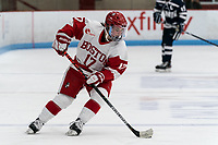 BOSTON, MA - FEBRUARY 16: Breanna Scarpaci #17 of Boston University brings the puck forward during a game between University of New Hampshire and Boston University at Walter Brown Arena on February 16, 2020 in Boston, Massachusetts.