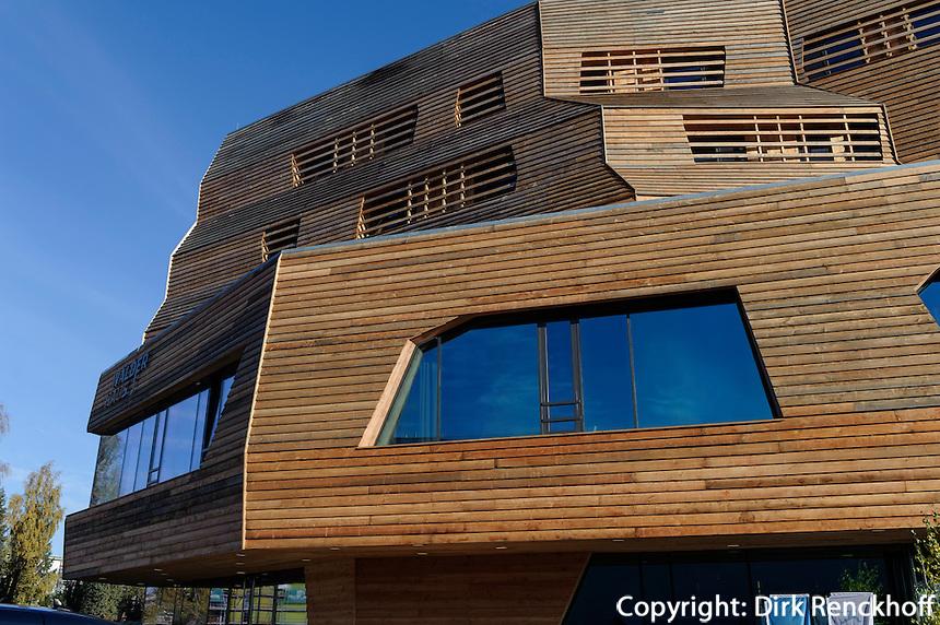 Wälderhaus Am Inselpark Nr. 19, Internationale Gartenschau IGS und Bauausstellung IBA 2013 in  Hamburg-Wilhelmsburg, Deutschland