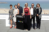 "Director Jasmila Zbanic (L) and actress Kym Vercoe (2L) posse in the photocall of the ""For those who can tell no lies"" film presentation during the 61 San Sebastian Film Festival, in San Sebastian, Spain. September 26, 2013. (ALTERPHOTOS/Victor Blanco)"