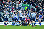 2nd February 2019, Murrayfield Stadium, Edinburgh, Scotland; Guinness Six Nations Rugby Championship, Scotland versus Italy; Grant Gilchrist of Scotland wins a line ouit
