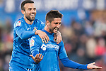 Markel Bergara Larranaga of Getafe CF celebrating his score with his team during the La Liga 2017-18 match between Getafe CF and Valencia CF at Coliseum Alfonso Perez on December 3 2017 in Getafe, Spain. Photo by Diego Gonzalez / Power Sport Images