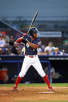 Reading Fightin Phils outfielder Destin Hood (7) at bat during a game against the New Britain Rock Cats on August 7, 2015 at FirstEnergy Stadium in Reading, Pennsylvania.  Reading defeated New Britain 4-3 in ten innings.  (Mike Janes/Four Seam Images)