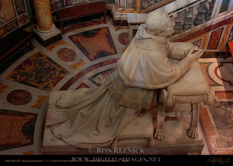 Pope Pius IX Crypt of the Nativity Ignazio Jacometti 1880 Sistine Chapel Santa Maria Maggiore Rome