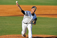 5 May 2012:  FIU's Michael Ellis (25) pitches as the FIU Golden Panthers defeated the Middle Tennessee State University Blue Raiders, 12-6, at University Park Stadium in Miami, Florida.