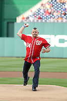 May 19, 2012-- UFC Legend Chuck Lidell throws out the first pitch at the Washington Nationals game in Washington, D.C Credit: mpi34/MediaPunch Inc.