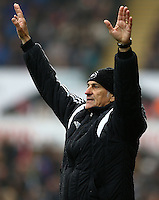 Swansea City Manager Francesco Guidolin gestures on the touchline during the Barclays Premier League match between Swansea City and Liverpool played at the Liberty Stadium, Swansea on 1st May 2016