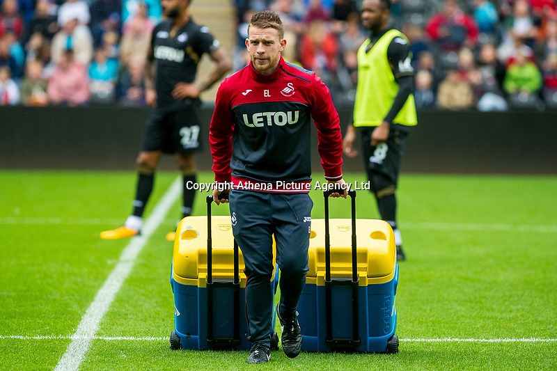 during the Swansea City Training Session at The Liberty Stadium, Swansea, Wales, UK. 02 August 2017