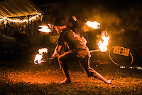 A bad ass fire dancer at Quantum Flux.