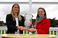 Connections of So Sleek receive their trophy from Sponsors Bathwick Tyres during Afternoon Racing at Salisbury Racecourse on 7th August 2017