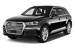 2016 Audi Q7 S Line 5 Door Suv Angular Front stock photos of front three quarter view