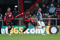 Jordon Ibe of Bournemouth shoots and scores the equaliser during the Premier League match between Bournemouth v West Bromwich Albion played at Vitality Stadium, Bournemouth United Kingdom  on 17 Mar 2018
