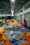Female workers producing H&M bath shirts in the Banga Garment Ltd supplier of H&M, Dhaka