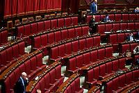 Roma, 31 Gennaio 2014<br /> Camera dei Deputati - Voto sulle pregiudiziali di costituzionalità della legge elettorale<br /> I banchi vuoti del Movimento 5 Stelle