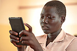 A student uses a tablet computer in the Loreto School outside Rumbek, South Sudan. The school is run by the Institute for the Blessed Virgin Mary--the Loreto Sisters--of Ireland.