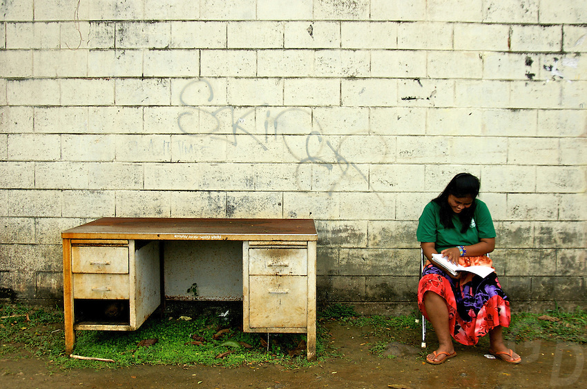 STUDENTS IN THE PUBLIC HIGH SCHOOL CHUUK, MICRONESIA, PACIFIC, IS THIS THE CLASSROOM?