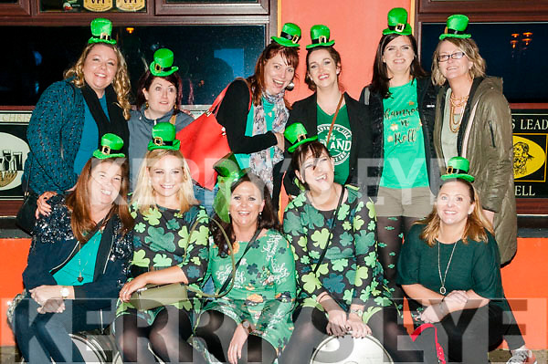 Bride to Be: Gillian Doody, Killarney centre front, on her hen party with friends around Listowel on Saturday night last.