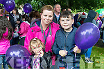 Caitriona Lyons with Emma and Conor Lyons (Finuge and United Kingdom), pictured at the Balloon release in Tralee Town Park on Sunday.
