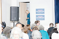 Democratic presidential candidate Senator Kirsten Gillibrand (D-NY) leaves the stage to greet people after speaking at a town hall campaign event at the Concord Parks and Recreation Community Center in Concord, New Hampshire, USA on Sat., Apr. 6, 2019.