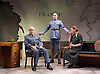 The Patriotic Traitor <br /> at Park Theatre, London, Great Britain <br /> press photocall <br /> 18th February 2016 <br /> <br /> Tom Conti as Philippe Petain<br /> <br /> Laurence Fox as Charles de Gaulle <br /> <br /> Ruth Gibson as Yvonne de Gaulle <br /> <br /> Photograph by Elliott Franks <br /> Image licensed to Elliott Franks Photography Services