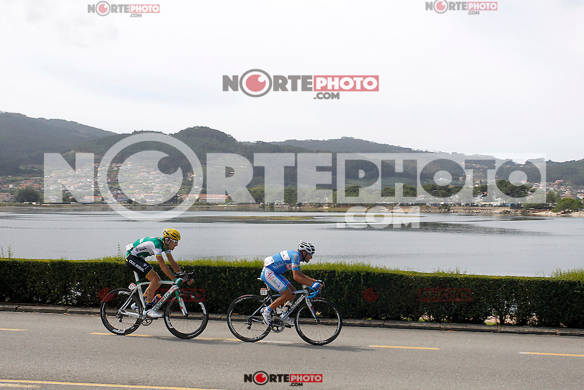 Javier Aramendia (l) and Adrian Palomares during the stage of La Vuelta 2012 between Ponteareas and Sanxenxo.August 28,2012. (ALTERPHOTOS/Paola Otero) /NortePhoto.com<br />