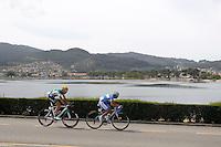 Javier Aramendia (l) and Adrian Palomares during the stage of La Vuelta 2012 between Ponteareas and Sanxenxo.August 28,2012. (ALTERPHOTOS/Paola Otero) /NortePhoto.com<br /> <br /> **CREDITO*OBLIGATORIO** <br /> *No*Venta*A*Terceros*<br /> *No*Sale*So*third*<br /> *** No*Se*Permite*Hacer*Archivo**<br /> *No*Sale*So*third*