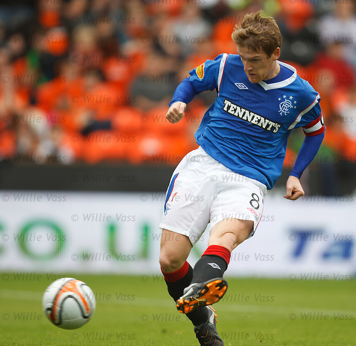 Steven Davis shoots and hits the post