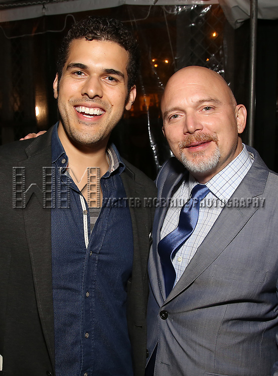 Joel Perez and <br /> Michael Cerveris attends the Broadway Opening Night After Party for  'Indecent' at Bryant Park Grill on April 18, 2017 in New York City.