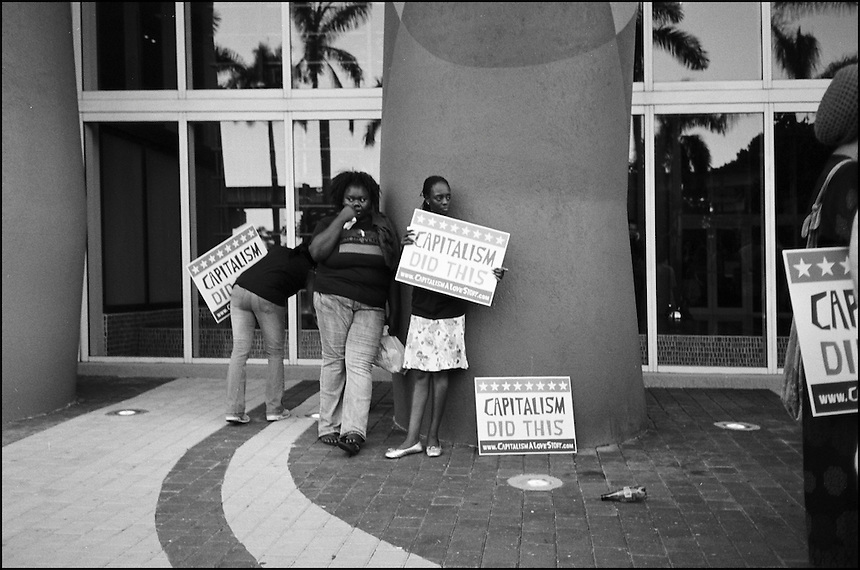 "Capitalism did this<br /> From ""Miami in Black and White"" series, Miami, FL, 2009"