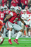 Ohio State Buckeyes defensive end Chase Young (2) in coverage during the Fiesta Bowl game against the Clemson Tigers on Saturday, Dec 28, 2019 in Glendale, Ariz.  (Gene Lower via AP)