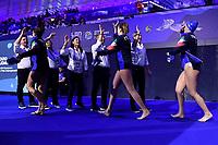 Paolo ZIZZA and Italy staff <br />  <br /> Budapest 12/01/2020 Duna Arena <br /> GERMANY (white caps) Vs. ITALY (blue caps)<br /> XXXIV LEN European Water Polo Championships 2020<br /> Photo  © Andrea Staccioli / Deepbluemedia / Insidefoto