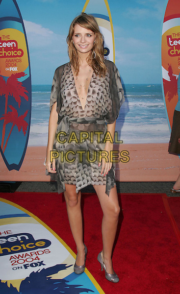 MISCHA BARTON.The 2004 Teen Choice Awards held at The Universal Ampitheatre in Universal City, California .August 8, 2004.full length, retro, patterend chiffon wrap around dress, plunging neckline.www.capitalpictures.com.sales@capitalpictures.com.Supplied By Capital Pictures