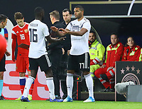 Antonio Rüdiger (Deutschland Germany) für Jonathan Tah (Deutschland Germany) - 15.11.2018: Deutschland vs. Russland, Red Bull Arena Leipzig, Freundschaftsspiel DISCLAIMER: DFB regulations prohibit any use of photographs as image sequences and/or quasi-video.