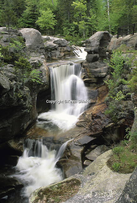 Screw Auger Falls on the Bear River in Grafton Notch State Park, Maine, USA