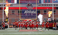 The Maryland Terrapins take the field for their first Big 10 Conference football game against the Ohio State Buckeyes at Byrd Stadium in College Park, Maryland on Oct. 4, 2014. (Adam Cairns / The Columbus Dispatch)