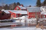 Adams Mill village, Stowe, VT, USA
