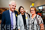 Finbarr Walsh, Una Lynch and Elma Walsh, all from Blennerville, Tralee, pictured at the opening of the new 15 bed in-patient PalliatIve Care Unit at University Hospital Kerry Hospice on Friday last.