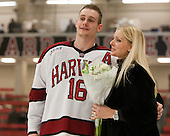 Alex Fallstrom (Harvard - 16) - The Class of 2013 was celebrated following the final Harvard Crimson home game of the season on Saturday, March 2, 2013, at Bright Hockey Center in Cambridge, Massachusetts.