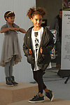 Child model pose in outfit during the petiteTALKS panel discussion on at the Javits Center in New York City on January 07, 2018.