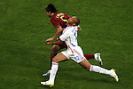 05 July 2006: Thierry Henry (FRA) (12) is unable to get past Meira Fernando (POR) (5). France defeated Portugal 1-0 at the Allianz Arena in Munich, Germany in match 62, the second semifinal game, in the 2006 FIFA World Cup.