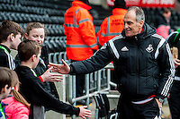 Francesco Guidolin, Manager of Swansea City   arrives at the Liberty Stadium the Barclays Premier League match between Swansea City and Southampton  played at the Liberty Stadium, Swansea  on February 13th 2016