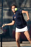 SAN ANTONIO, TX - FEBRUARY 10, 2012: The University of Texas Pan American Broncos vs. The University of Texas at San Antonio Roadrunners Women's Tennis at the UTSA Tennis Center. (Photo by Jeff Huehn)