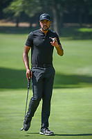 Tony Finau (USA) after sinking his birdie putt on 1 during round 3 of the World Golf Championships, Mexico, Club De Golf Chapultepec, Mexico City, Mexico. 3/3/2018.<br /> Picture: Golffile | Ken Murray<br /> <br /> <br /> All photo usage must carry mandatory copyright credit (&copy; Golffile | Ken Murray)