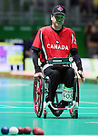 Rio de Janeiro-14/9/2016- Canadian boccia player Marco Dispaltro competes at the Carioca Arena during the 2016 Paralympic Games in Rio. Photo Scott Grant/Canadian Paralympic Committee