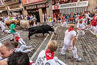 Europe,Spain,Pamplona,San Fermin festival 2018, Encierro, bulls running