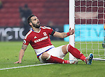 Alvaro Negredo of Middlesbrough after his shot goes wide during the English Premier League match at Riverside Stadium, Middlesbrough. Picture date: December 5th, 2016. Pic Jamie Tyerman/Sportimage