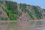 On the Yukon River, Near Dawson City, The Yukon Territory, Canada,