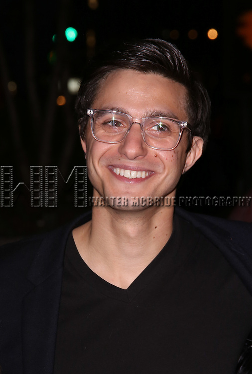 Gideon Glick attends 'The Robber Bridegroom' Off-Broadway Opening Night performance at Laura Pels Theatre on March 13, 2016 in New York City.