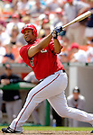 21 May 2006: Livan Hernandez, pitcher for the Washington Nationals, at bat against the Baltimore Orioles at RFK Stadium in Washington, DC. The Nationals defeated the Orioles 3-1 to take 2 of 3 games in their first inter-league series...Mandatory Photo Credit: Ed Wolfstein Photo..