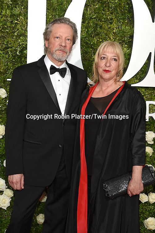 Chris Cooper and wife Marianne Leone Cooper attend the 71st Annual  Tony Awards on June 11, 2017 at Radio City Music Hall in New York, New York, USA.<br /> <br /> photo by Robin Platzer/Twin Images<br />  <br /> phone number 212-935-0770
